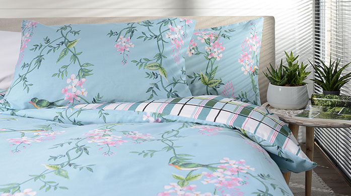 Deyongs Bed Linen Brighten up your bedroom for the new season with beautiful patterned bed linens from Deyongs. There's pastel checks, wisteria florals and more.