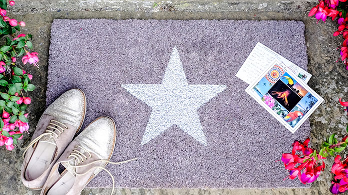 Make an Entrance: Artsy Doormats