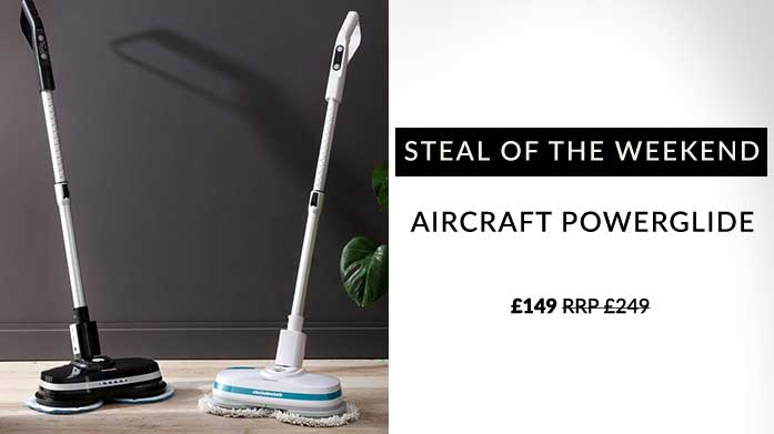 Buyer's Pick: Aircraft PowerGlide The Aircraft PowerGlide is a powerful, cordless floor cleaner that'll shine and buff your floors to a professional standard.