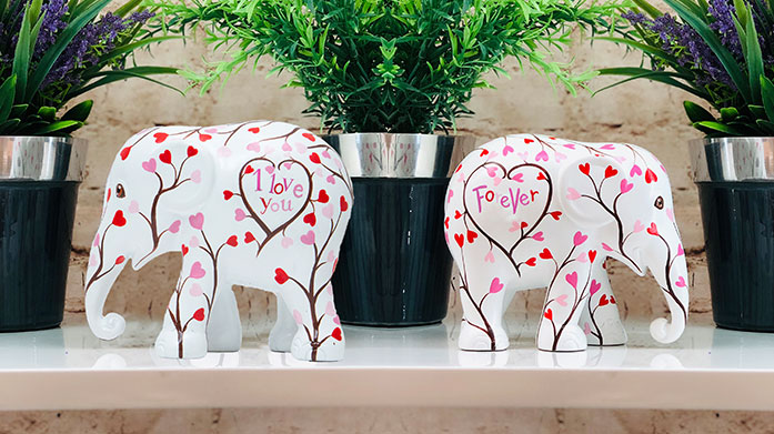 Valentine's Gifting: Elephant Parade Gift your Valentine a handcrafted Elephant Parade ornament - a thoughtful, beautiful and ethical present for your loved one.