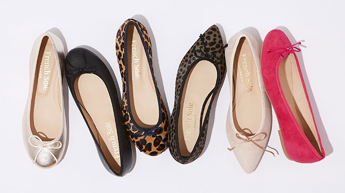 French Sole Our new edit of French Sole shoes is a chic collection of ballet pumps, flats and loafers in a range of on-trend designs.