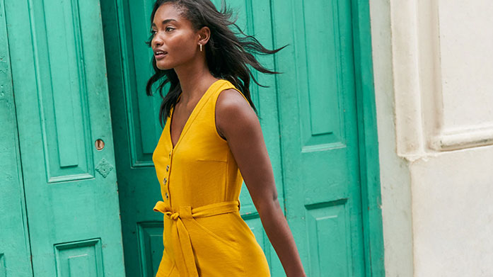 New! Boden Womenswear For clothes that bring colour to your wardrobe and fun to your life, look to Boden. Our edit features bright printed dresses, everyday essentials and more.