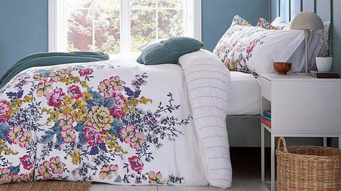 Joules Bed Linen & Towels  Browse our new collection of bed linen from Joules, featuring floral duvet sets, signature striped towels and knitted throws.