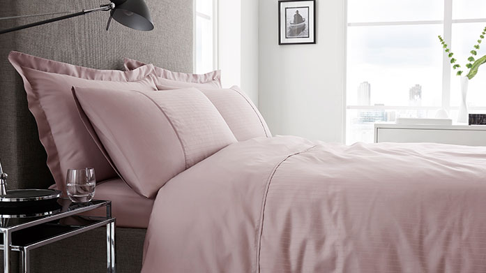 Luxe Linen's 300TC Superior 300 thread count linens to guarantee the ultimate night's sleep. Shop bedding in a range of neutral pastel shades.