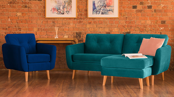 Velvet Accent Upholstery Inject some style and colour into your home with a unique velvet chair (or two) from Tangerine Interiors.
