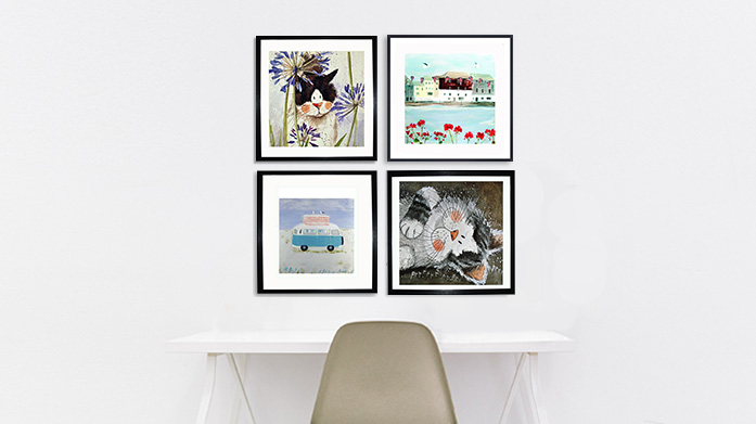 Hannah Cole & Alex Clark Art Bring some charming personality into your home with playful framed prints by British artists, Hannah Cole and Alex Clark.