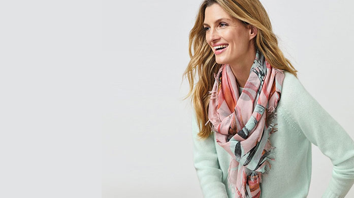 Pure Collection Accessories Shop luxury accessories from Pure Collection featuring pastel coloured pashminas and scarves, cashmere hats and luxe loungewear.
