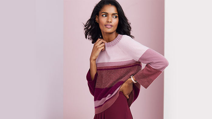 Pure Collection  A timeless collection of cashmere knits, print dresses and trousers for soft and comfortable, yet totally chic dressing.