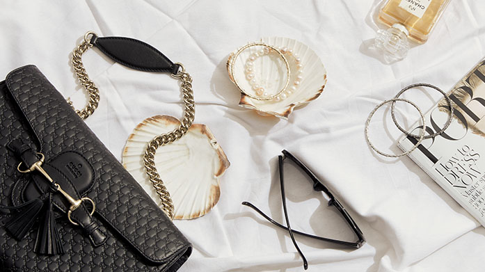 The Accessories Staples  Make these everyday staples your go-to for everyday finishing touches. There's pearl jewellery, designer sunglasses, versatile handbags and more.