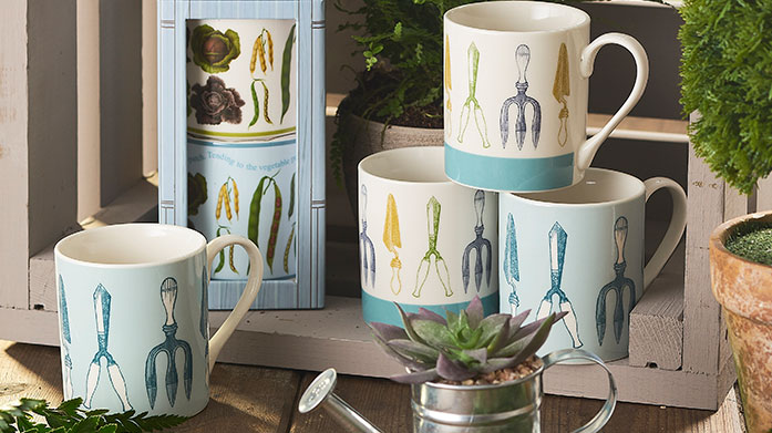 RHS Home For a gorgeous vintage kitchen choose RHS Home. There's butterfly and bloom tea pots, country garden mugs and much more.