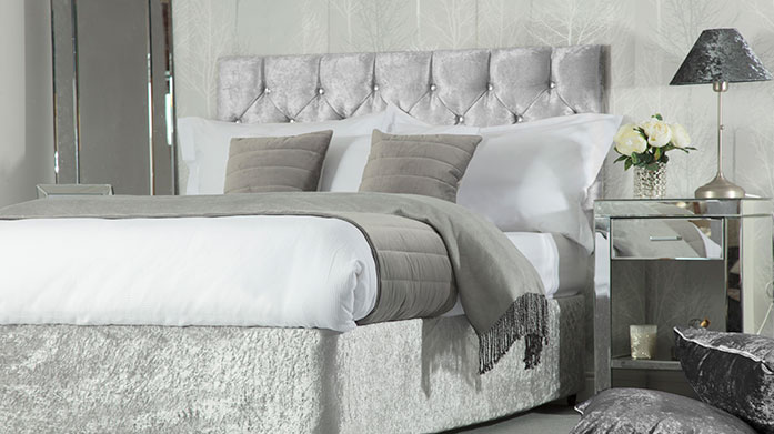 Divan Bed Base Wraps Change the look and feel of your bed with a modern faux suede or crushed velvet base wrap from Belledorm.