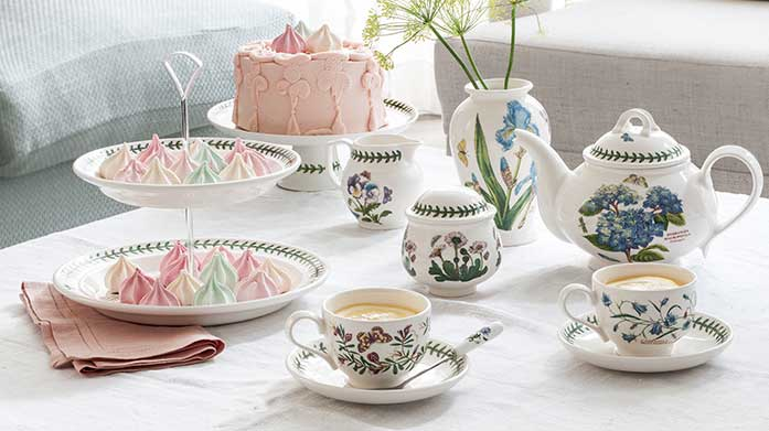 Portmeirion Botanic Garden Invest in some charming homeware this summer with Portmerion's pastoral inspired range. There's plates, mugs, jugs and more!