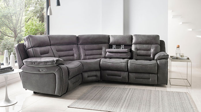 Tech Sofa Featuring charging ports, side tables and built-in speakers, these stylish sofas from The Tech Sofa combine comfort and function.