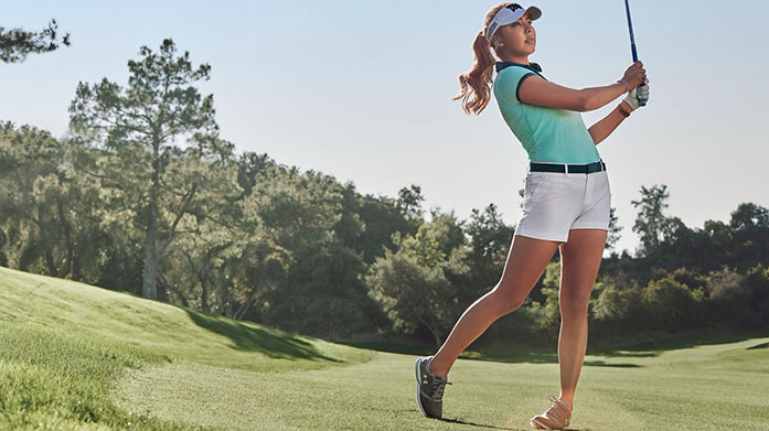 Golf Gear For Her Ensure you look the part on the return to the golf course with new in golf-ready polo shirts, trousers, lightweight layers and more from Under Armour and Golfino.