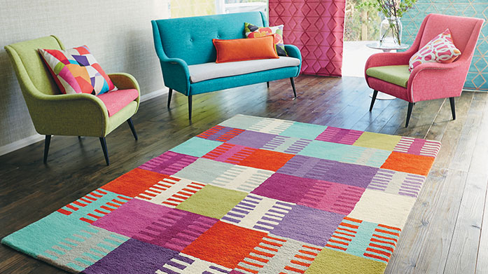 Designer Rugs Revitalise your room with a luxurious designer rug. Take your pick from top brands Scion, Wedgwood, Sanderson, Harlequin & more