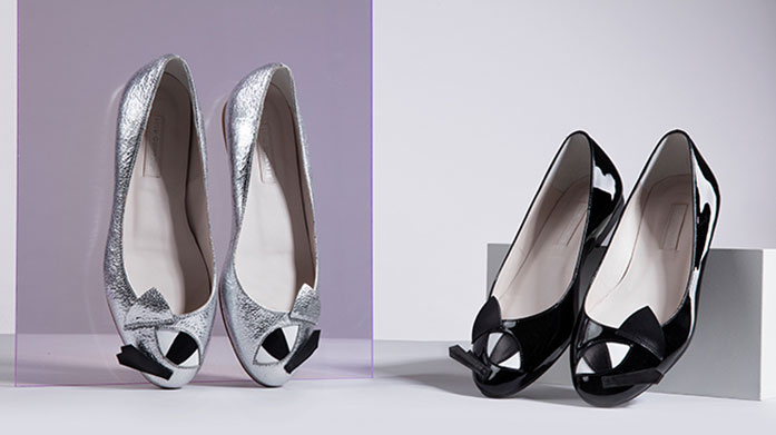 f88de5d6fe7 Look to the lovely Lulu Guinness this season for beautiful monochrome heels  and pumps with their signature red accents.