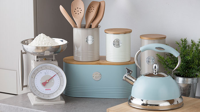 Typhoon Find gold storage jars, state of the art griddle pans, colourful woks and more for a contemporary new kitchen style.