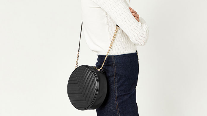 Quilted Bags Bag yourself a stylish new accessory from this collection of quilted shoulder bags, evening clutches and wallets, perfect for your off-duty look.