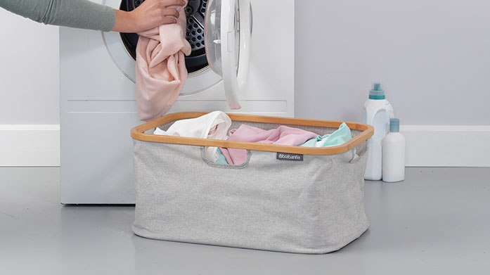 Buyer's Pick: Brabantia Laundry Basket This foldable laundry basket from Brabantia is the perfect space saver for your home and also doubles up as a stylish storage container.