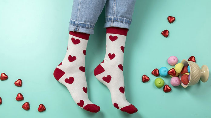 Funky Steps For Her We've got your feet well and truly covered with these groovy bold and bright socks by Funky Steps. Shop spots, dots and stripes!