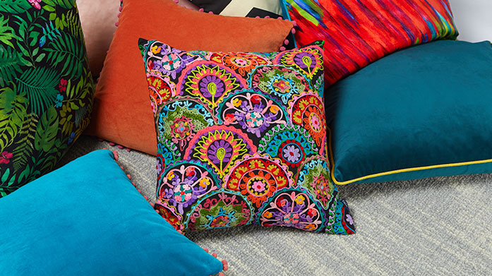 Embellished & Embroidered Cushions
