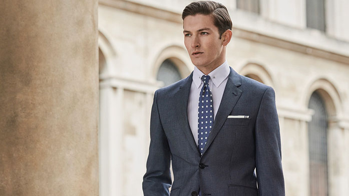 Hackett Suiting Fix up and look sharp with Hackett. Find a style that suits you with this classic collection from the iconic British brand. Suits from £175.