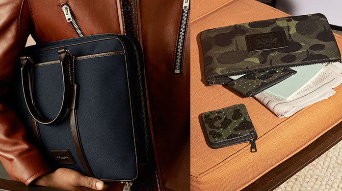 Men's Work Essentials There's leather work bags from Coach, luxe cardholders from Calvin Klein & silk ties from Hackett