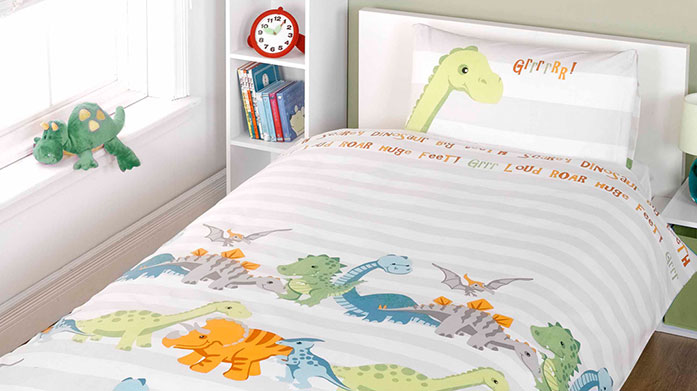 Rapport Kids Bed Linen Quirky bed linen designs for little ones that will awaken their imagination. There's dinosaurs, pirates, sea creatures, unicorns and more.