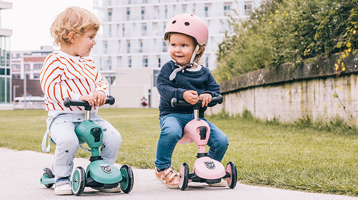 Scoot & Ride Let your little ones play in the garden and encourage them to keep active on a new Scoot & Ride scooter.