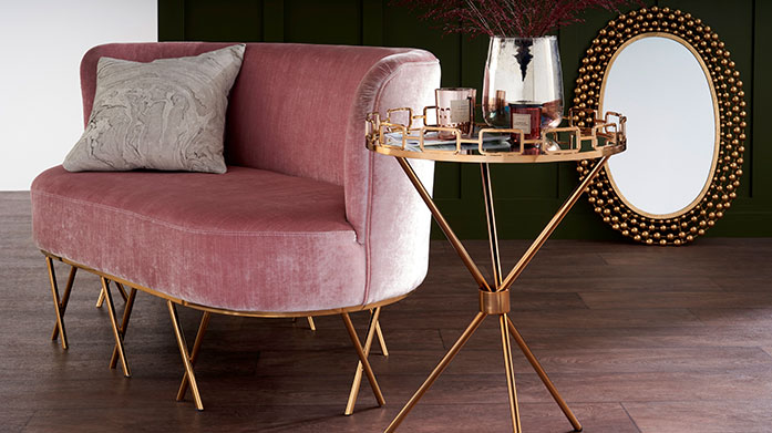 Serene Furniture Add elegant and luxurious feel to your home with new Serene furniture. Our new edit features luxe console tables, bar carts and lounge chairs.