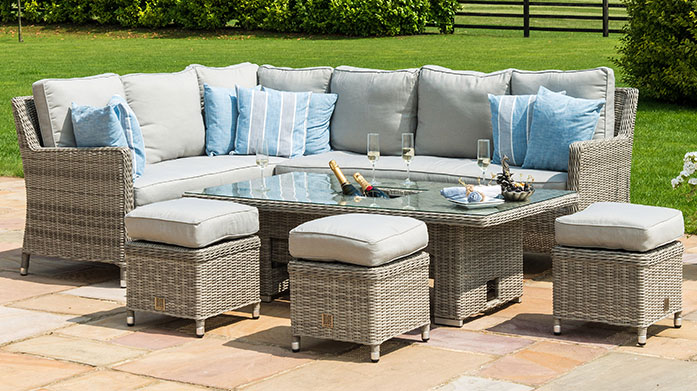 Maze Rattan Garden Furniture Maze's chic range of garden furniture is crafted in weatherproof rattan so it'll look stylish summer after summer.