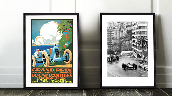 Monaco Grand Prix Prints Celebrate the Monaco Grand Prix in your home with our latest collection of formula one framed art prints.