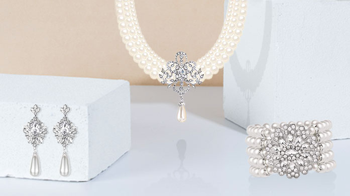 The Bridal Jewellery Edit Discover the most exquisite jewelry designs to compliment your wedding. Choose from delicate drop earrings, statement pearl necklaces and more.