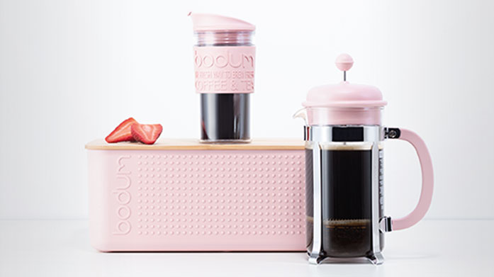 Bodum Simple yet chic kitchenware from Bodum includes pastel coloured travel mugs, glass teapots, electric coffee grinders and more.