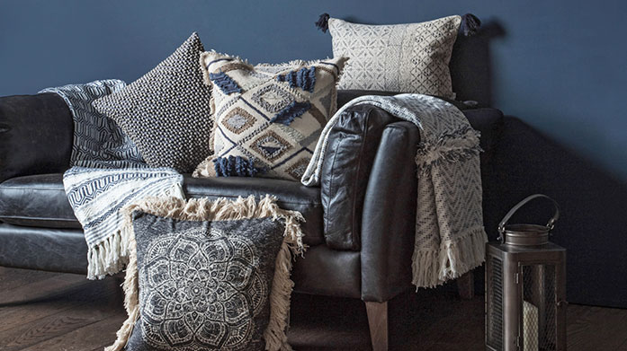 Boheme Home Make your home a bohemian paradise with relaxed cushions, baskets and more from Gallery.