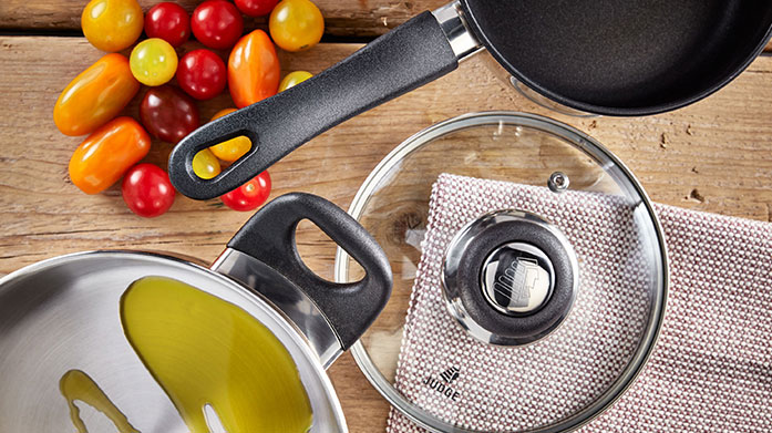 Judge Cookware Choose Judge cookware for a wide range of the finest stainless steel, non-stick pots and pans to elevate your home-cooked meals.