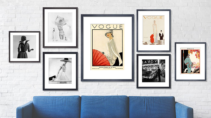 Vogue Wall Art Vogue, strike a pose. Let your walls do the talking with a fashionable framed print featuring iconic Vogue covers.