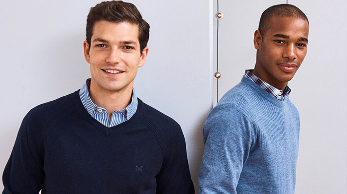 New In: Crew Clothing Men's Bring cool and classic styles to your wardrobe with Crew Clothing menswear. Choose from seasonal jackets and knitwear, trousers and polos.