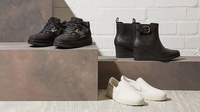 UGG Leather Shoes and Sneakers Not a fan of the classic UGG boots? We've got plenty more on offer... shop leather shoes and sneakers from the Aussie brand.