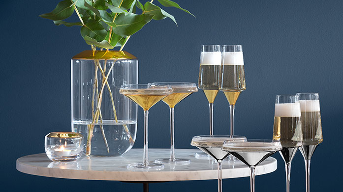 LSA Raise your glass this Christmas with LSA's premium crystal cut glasses, champagne flutes, tumblers and drinking accessories.