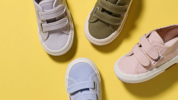 Trainers for Little Ones: New Balance & More  Keep the kids feet happy with a new pair of designer kicks from New Balance and Superga.