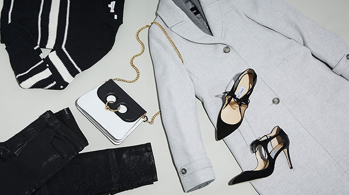 Modern Monochrome Beautiful designer clothing and accessories: all in a chic black and white colour palette.