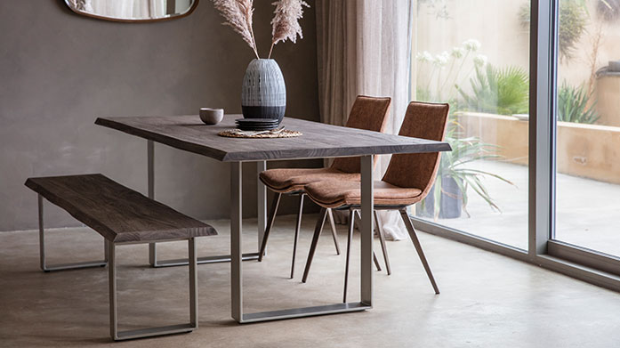 Dining & Kitchen Furniture by Gallery Kit out your dining room and kitchen with luxe furniture from this sale of leather chairs, dining tables and dining sets.