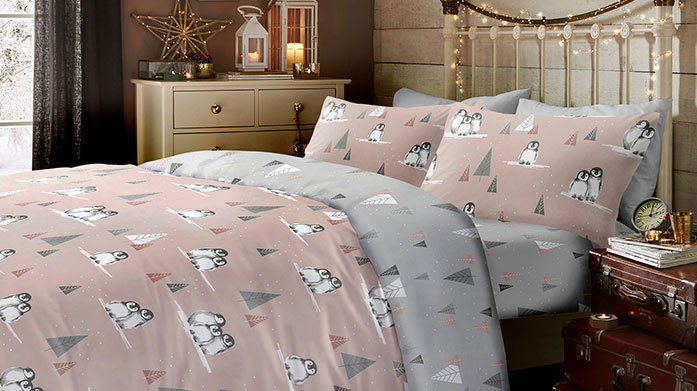 Christmas Collection Bed Linen Bring some festive cheer to your bedroom with this collection of Christmas bed linen. Featuring reindeers, robins and more!