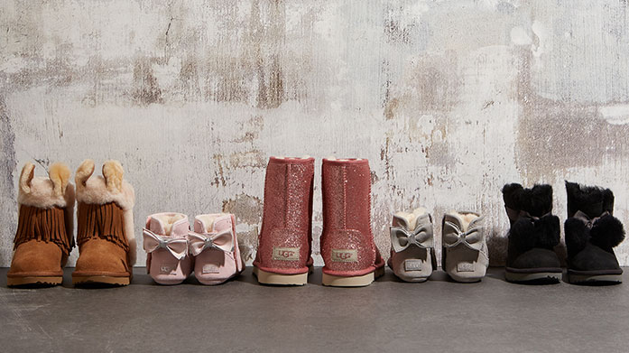 Ugg Kid's Clearance Get your little one or mini family member a wonderfully soft pair of kids UGG boots, slippers or booties from our childrenswear sale!