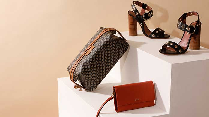 0dcbe34838ee There's luxe leather footwear, silk scarves, colourful wallets and classic  'B' keyrings.