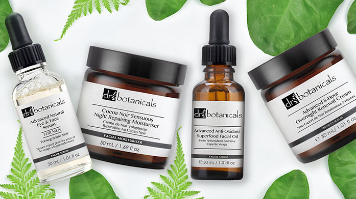 Dr Botanicals Natural & Vegan Cosmetics Luxury natural and vegan skincare from Dr Botanicals' range of rejuvenating moisturisers, body lotions and face masks.